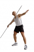 Young man preparing to throw javelin - Asia Images Group