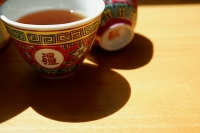 Still life of Chinese teacups - Asia Images Group