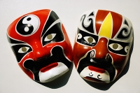 Two Chinese masks - Asia Images Group
