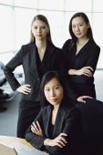 Three businesswomen, looking at camera, portrait - Asia Images Group