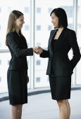 Two businesswomen shaking hands - Asia Images Group