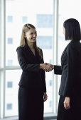 Two businesswomen standing and shaking hands - Asia Images Group