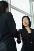 Businesswomen shaking hands, low angle view - Asia Images Group