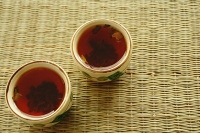 Two cups of Chinese Tea, high angle view - Asia Images Group
