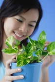 Young woman with houseplant - Asia Images Group