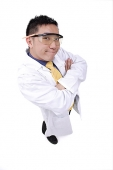Doctor in lab coat, arms crossed - Asia Images Group