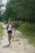Woman on hiking trail - Asia Images Group