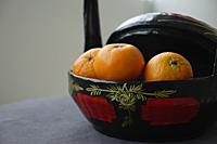 Basket of Chinese Mandarin Oranges - Asia Images Group