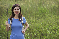 Woman hiking in nature, outdoors - Asia Images Group