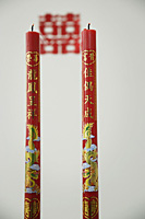 Two traditional Chinese candles - Asia Images Group