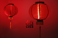 Red Chinese lanterns - Asia Images Group