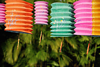 Colourful Chinese paper lanterns - Asia Images Group