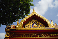Kancanarama Buddhist Temple, Roof details, Singapore - Asia Images Group