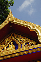 Close up of Kancanarama Buddhist Temple, Singapore - Asia Images Group