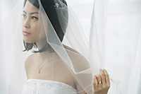 A bride with a veil - Asia Images Group