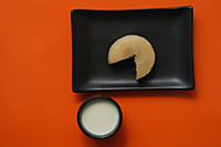 Still life of cut Chinese pancake - Asia Images Group