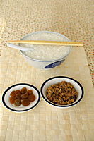 Still life of porridge with spicy minced pork and pickled vegetable - Asia Images Group