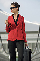 Businesswoman looking into distance - Asia Images Group