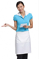Waitress smiling at camera, holding notepad - Asia Images Group