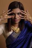 Indian woman wearing traditional wedding jewelry - Asia Images Group