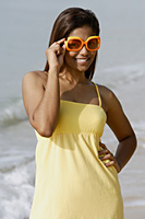Portrait of woman with sunglasses - Asia Images Group