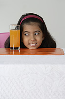 Girl with glass of juice - Asia Images Group