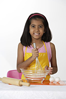 Girl baking - Asia Images Group