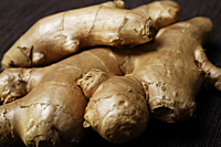 Close up of ginger root. - Asia Images Group