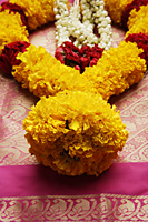 Close up of flower garland - Asia Images Group