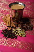 Indian masala tea with spices. - Asia Images Group