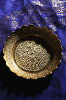 Carved brass bowl - Asia Images Group
