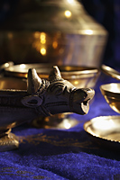 Still life of Indian brass crafts - Asia Images Group