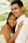 Portrait of a couple, woman leaning on man's chest - Asia Images Group