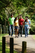 Group of young adults walking in park - Asia Images Group