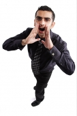 Businessman shouting - Asia Images Group