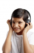 Boy wearing headphones - Asia Images Group
