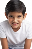 Boy looking at camera, head shot - Asia Images Group