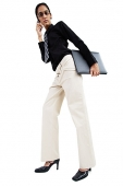Business woman using mobile phone, low angle view - Asia Images Group