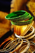 Still life of Indian bangles - Asia Images Group