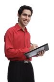 Businessman with document folder - Asia Images Group