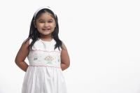 Young girl in white dress - Asia Images Group