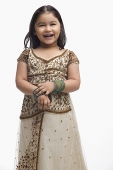 Young girl in traditional Indian clothing - Asia Images Group