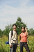 Young couple hiking in the wilderness - Asia Images Group