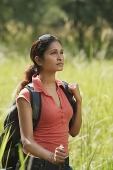 Young woman hiking in the wilderness - Asia Images Group