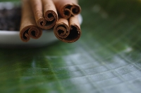 Close-up of cinnamon sticks - Asia Images Group