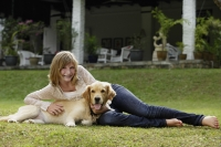 teen girl with dog - Alex Mares-Manton