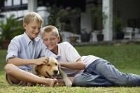 two boys with dog - Alex Mares-Manton