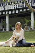 teen girl with dog - Alex Mares-Manton