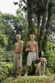 young boys with dog and fishing gear - Alex Mares-Manton