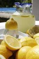 Pitcher of lemonade surrounded by lemons - Alex Mares-Manton